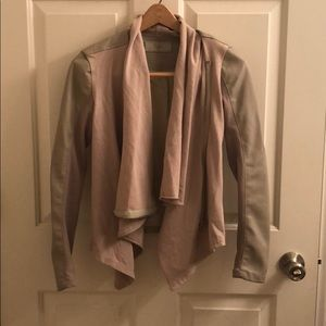 Blank NYC Faux Leather And Knit Jacket
